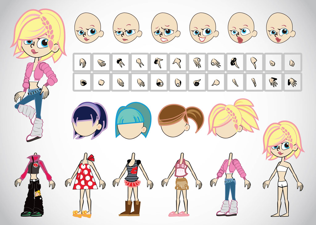 19 Free Vector Girl Cartoons Images