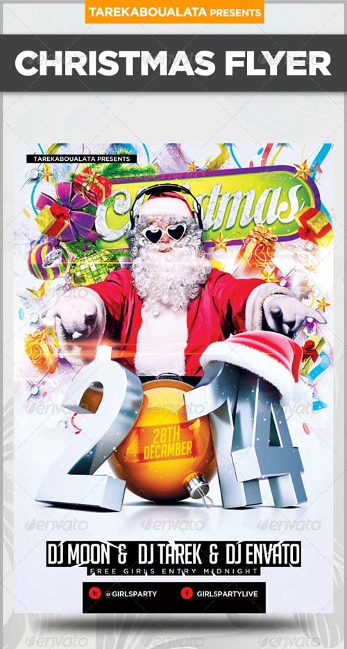 12 4x6 christmas psd files images psd christmas for Christmas flyer template free download