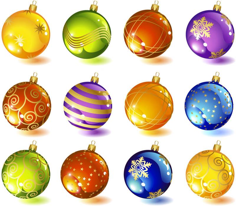 Christmas Tree Ball Ornament Clip Art