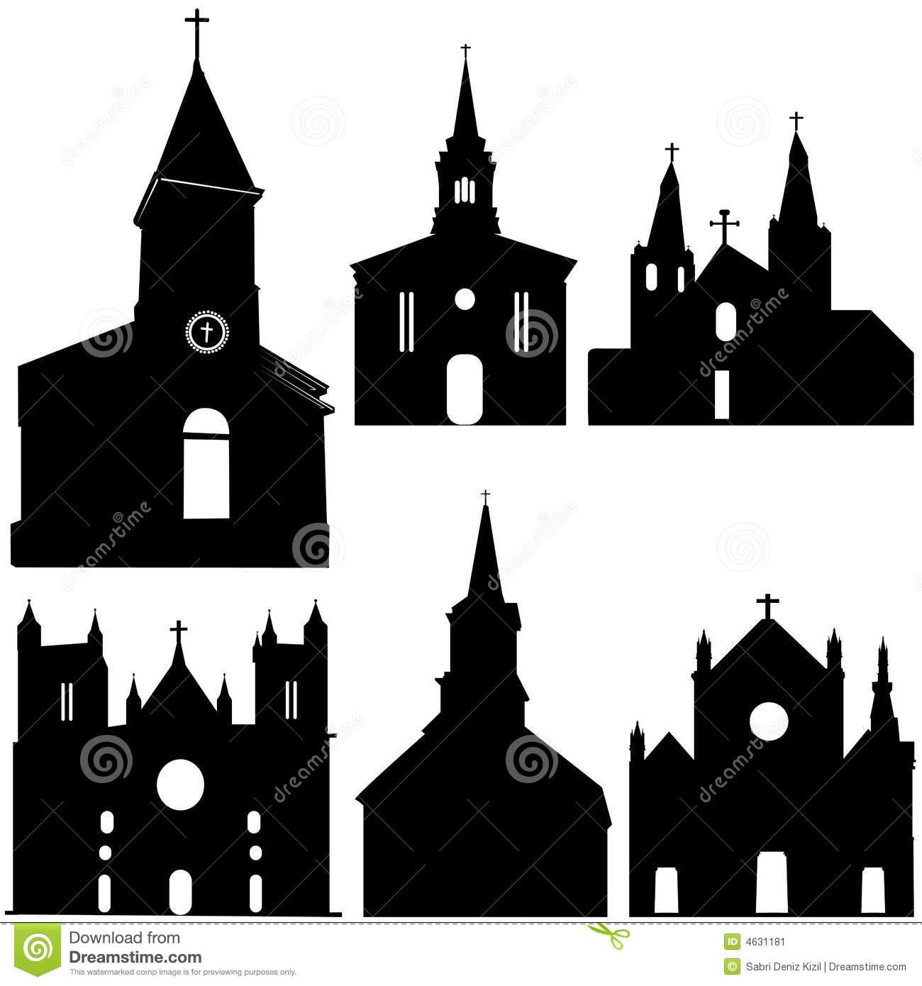 9 Church Vector Art Images