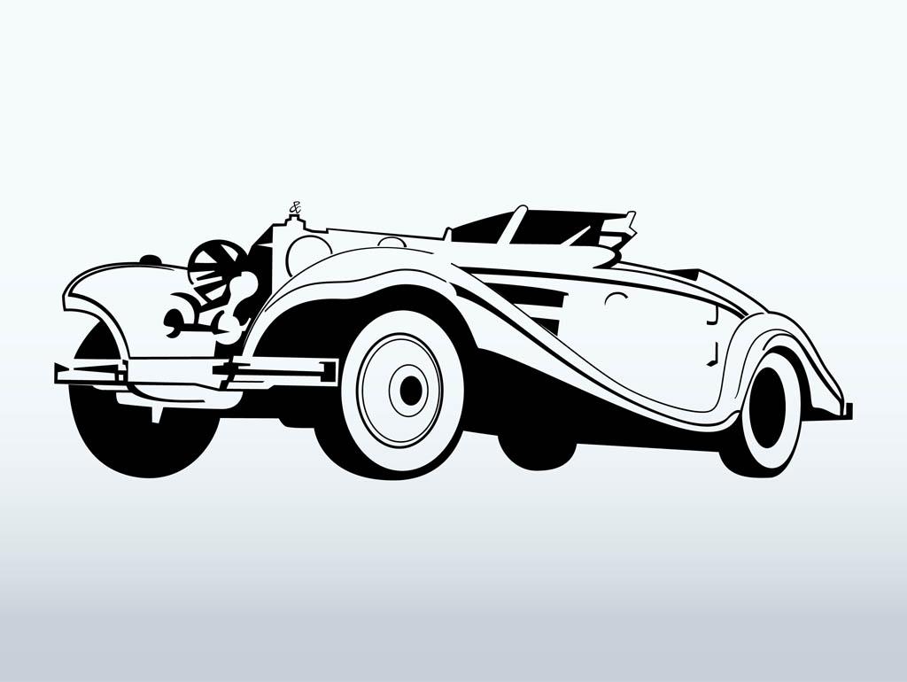 11 Classic Car Vector Art Images