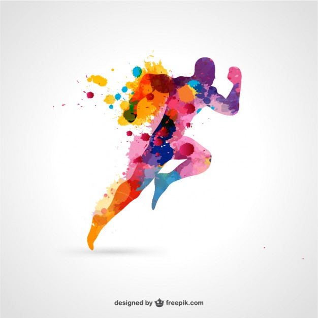 10 Colorful Runner Silhouette Vector Images