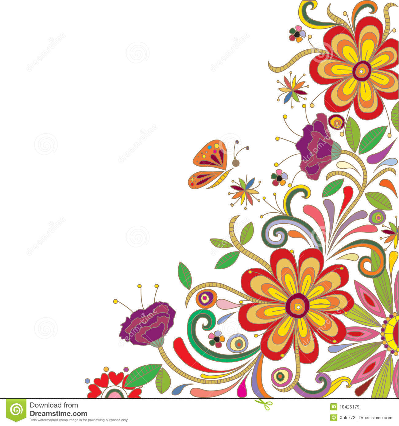 Colorful Abstract Floral Design