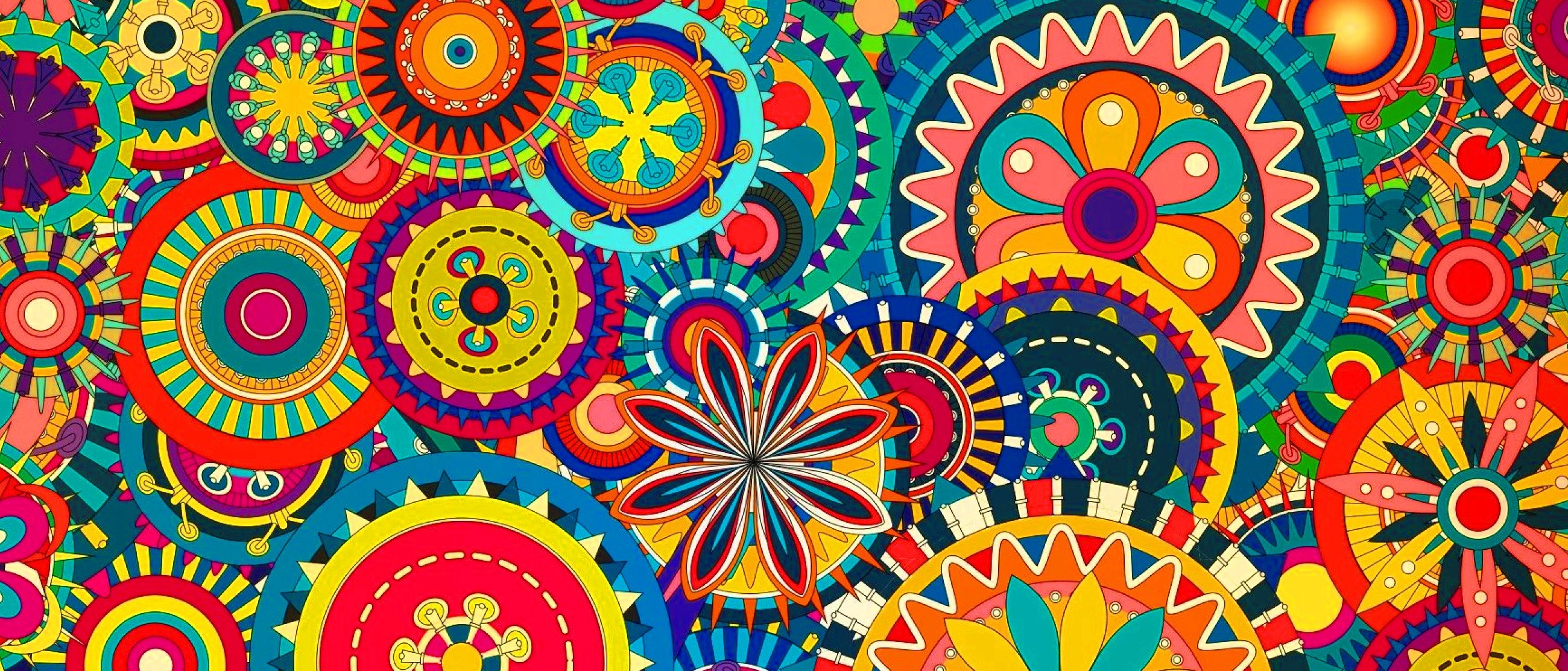 mandala united states and bright colors