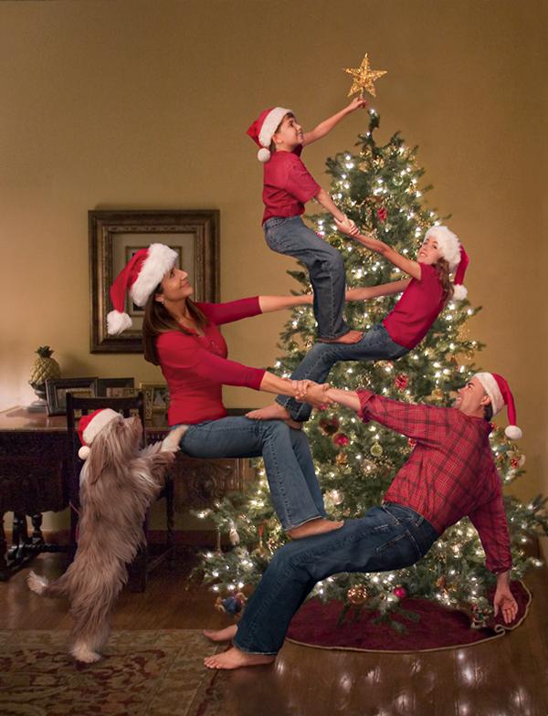 Cute Family Christmas Card Idea