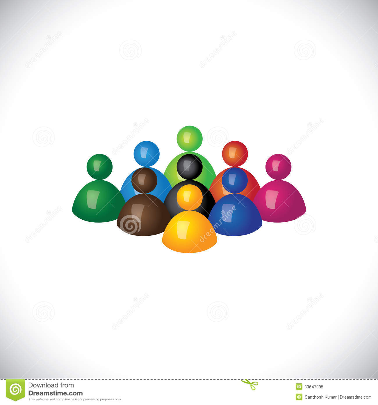 Diverse Group People Icon Clip Art Free