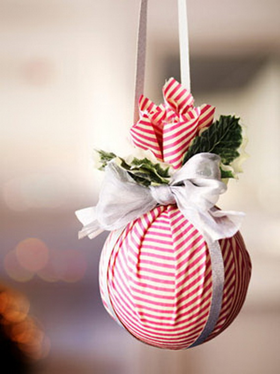 DIY Christmas Ornament with Fabric