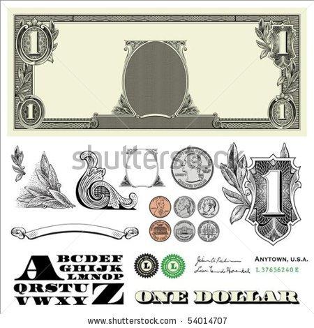 16 Dollar Bill Vector Art Images