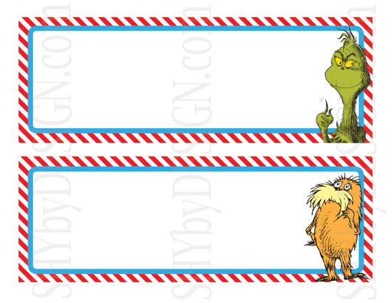 14 sock label template images sock monkey birthday for Dr seuss birthday card template