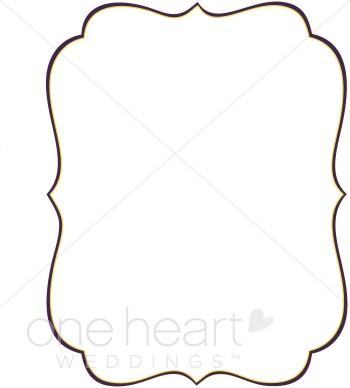 Elegant Bracket Clip Art Border
