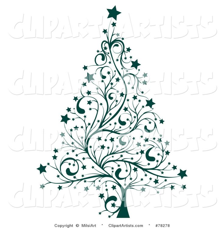 Elegant Christmas Tree Clip Art