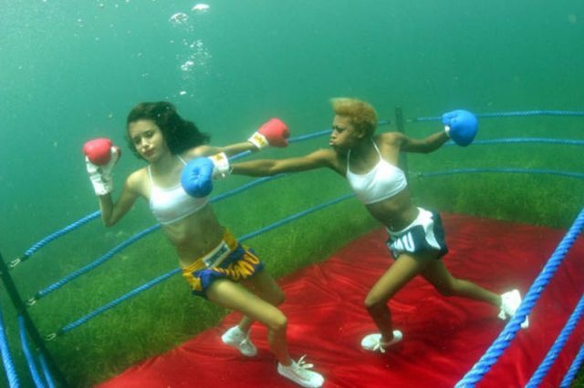 Female Boxing Underwater