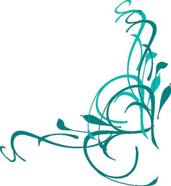 Floral Swirl Clip Art