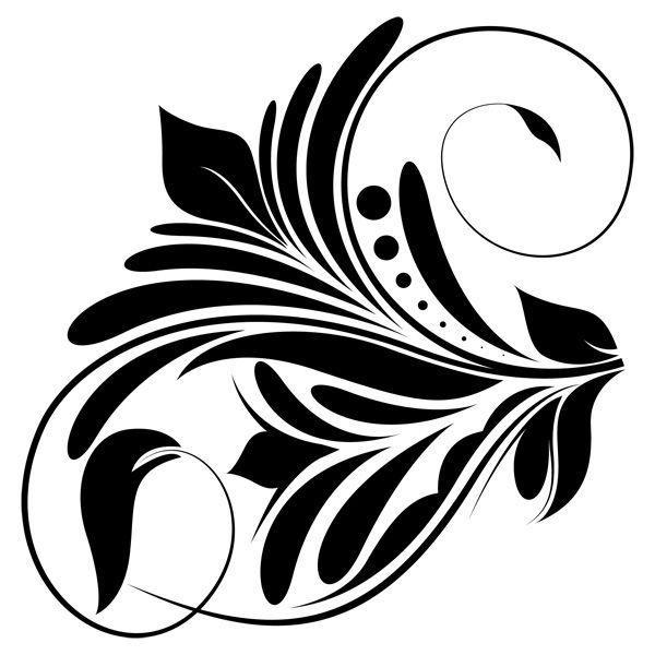 Flower Clip Art Swirl Designs PNG