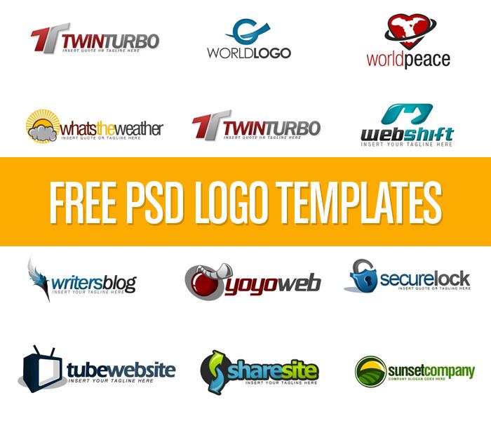 12 Logos PSD Free Download Images