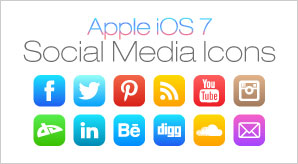 Free Social Media Icons for Apple