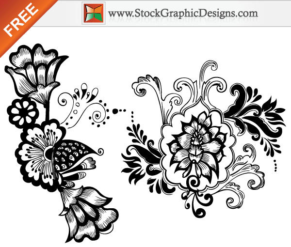 10 Beautiful Floral Patterns Vector Images