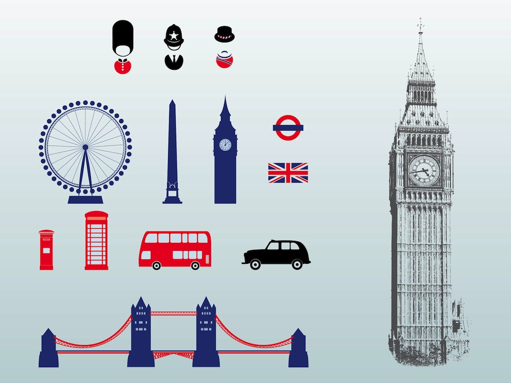 13 London Big Ben Vector Images