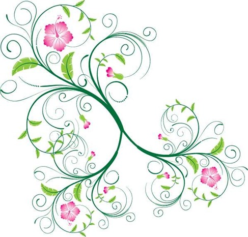 Free Vector Floral Swirl