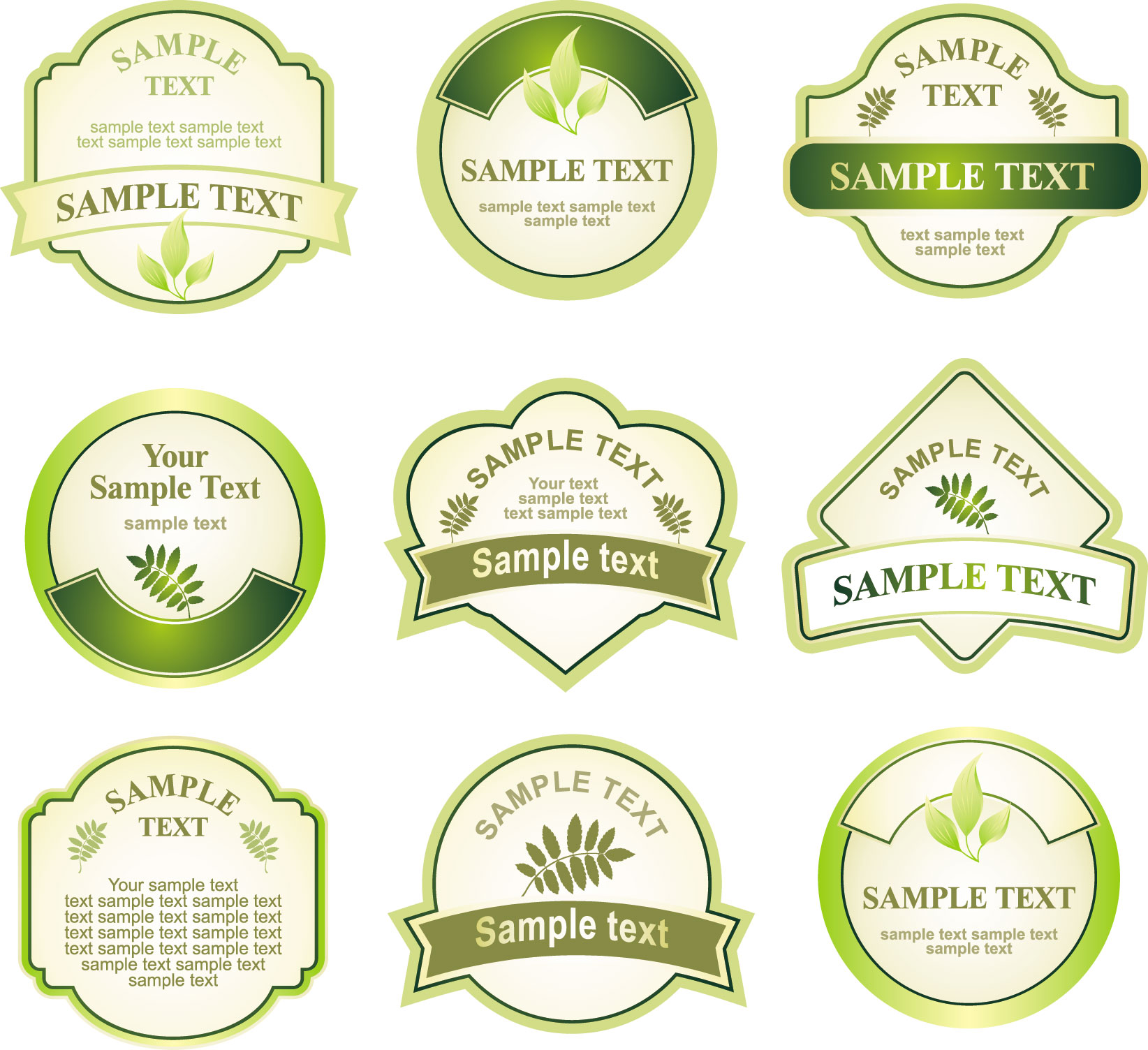 Free Vector Wine Bottle Labels