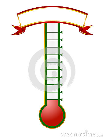 13 Fill In Thermometer Goal Vector Images
