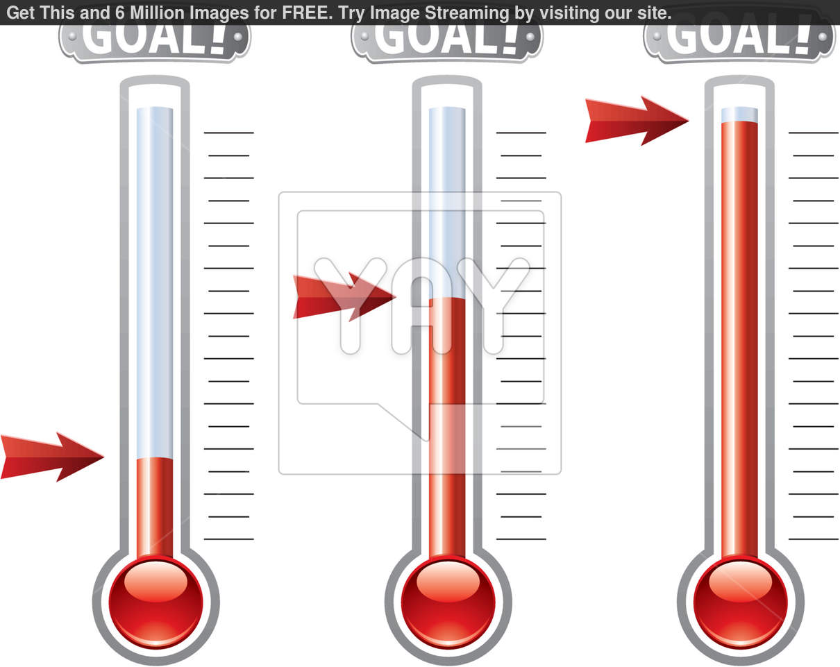 13 fill in thermometer goal vector images fundraising for Free fundraiser thermometer template