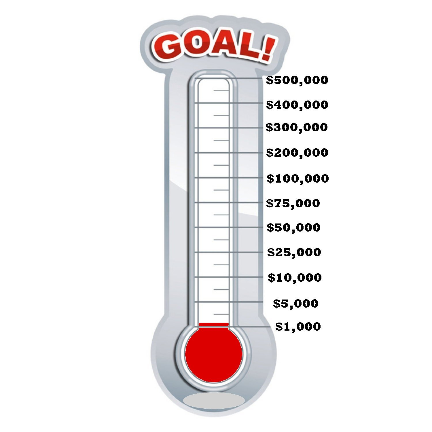 fill in thermometer template - 28 images - thermometer fundraising ...
