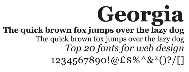 12 Fonts Like Georgia Images
