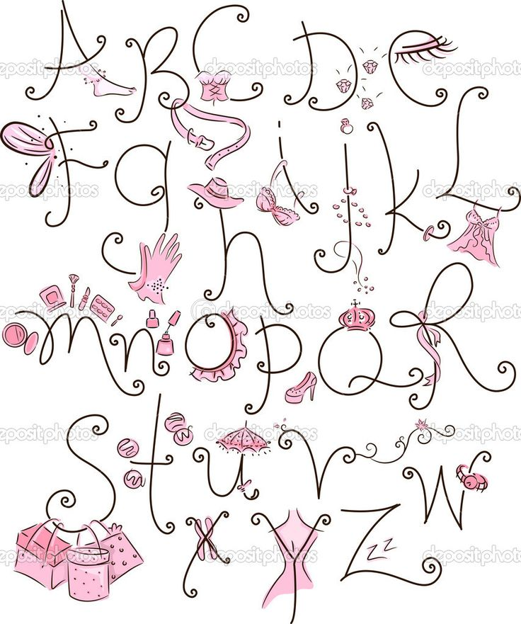 Girly Alphabet Fonts 14 Cute Girly Fonts Im...