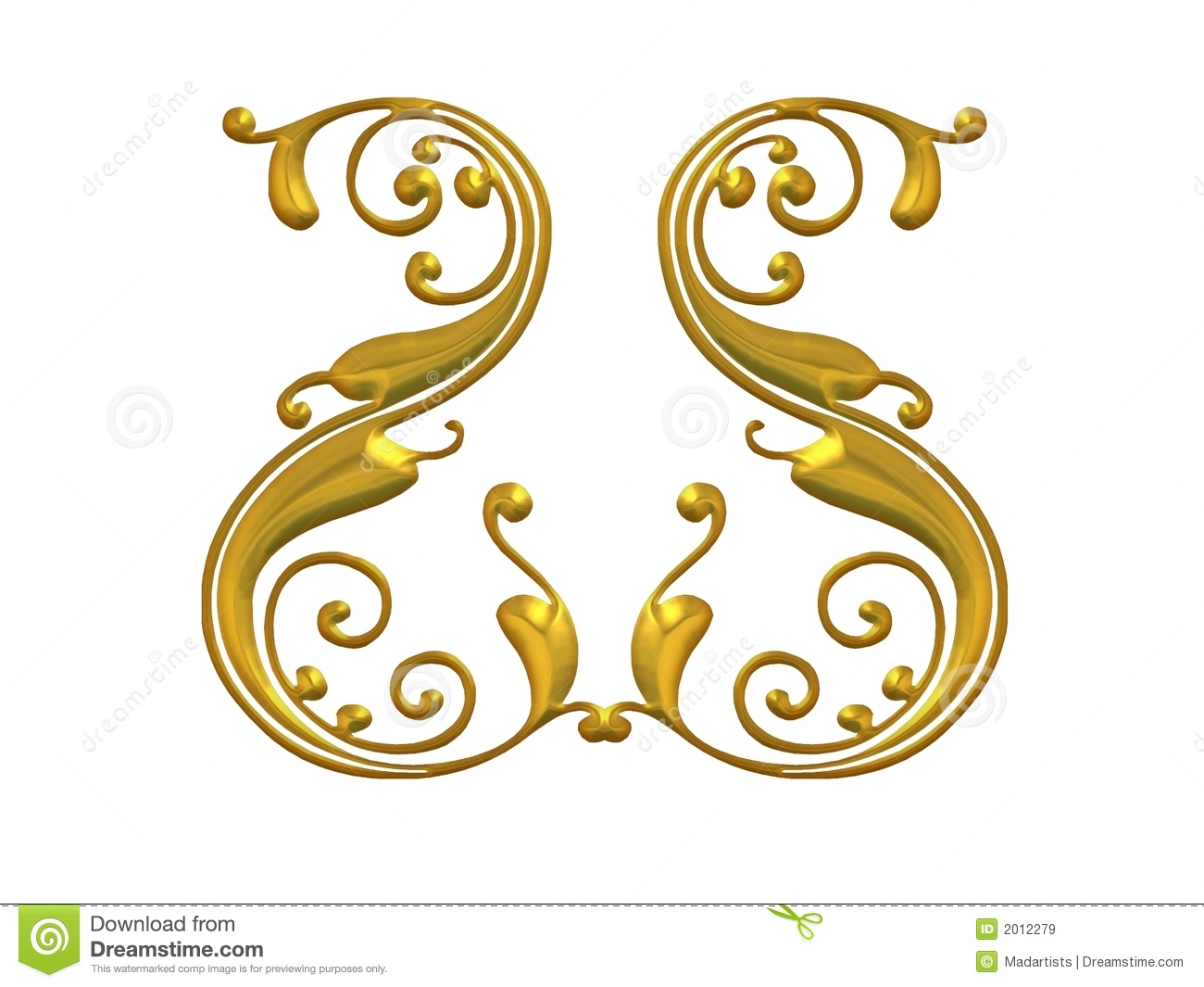 18 Gold Swirl Vector Graphics Images - Free Gold Vector ...