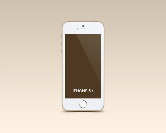 Gold iPhone 5S PSD