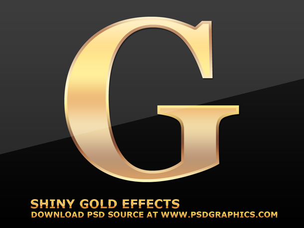 Gold Letter Effect Photoshop