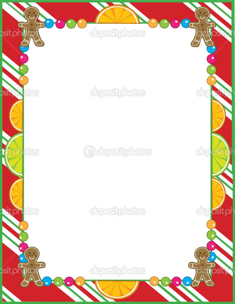 Border Vector Images - Christmas Candy Cane, Christmas Candy Border ...