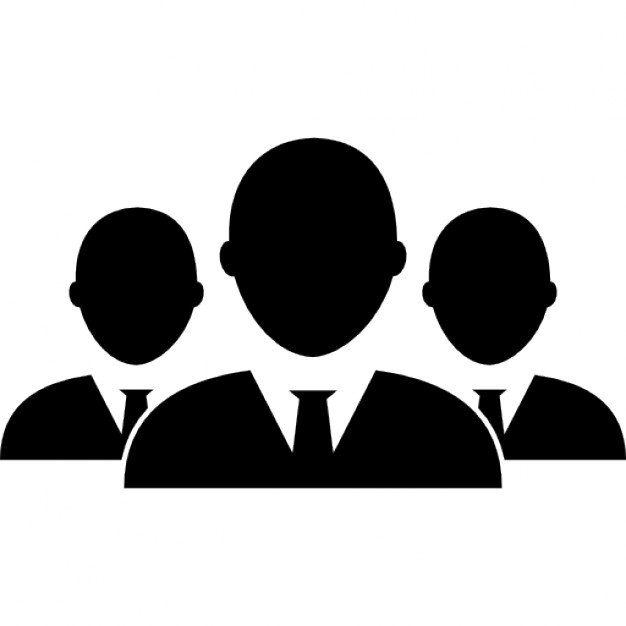 Groups of Black Business People Icon