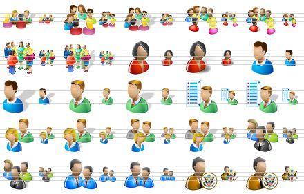 Groups Windows People Icons