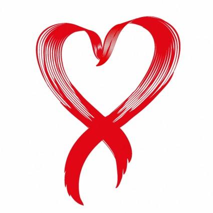 7 Cancer Awareness Ribbon Heart Vector Images
