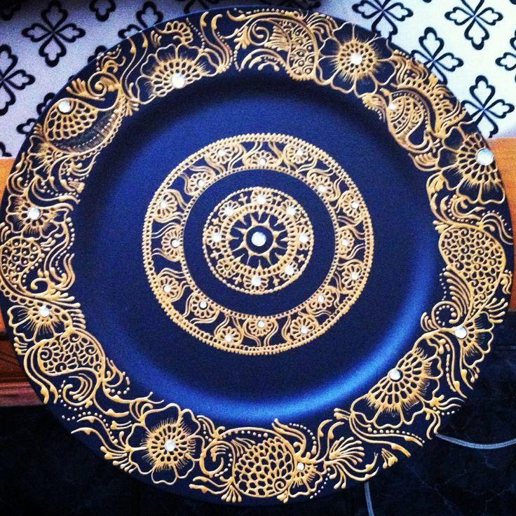 Henna Design On Plate