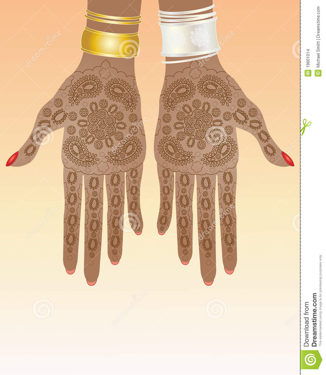 11 Silver And Gold Henna Design Images