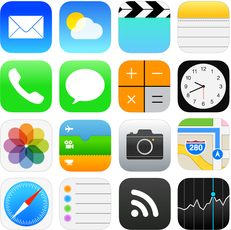 iOS 7 Download Free Vector Icons