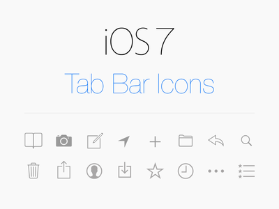 iOS 7 Icons Vector Free