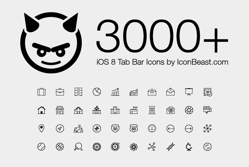 iOS 8 Icons Vector