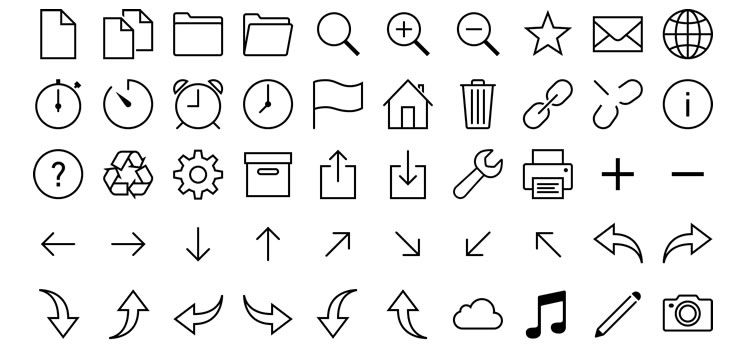 iOS Icons Vector Free
