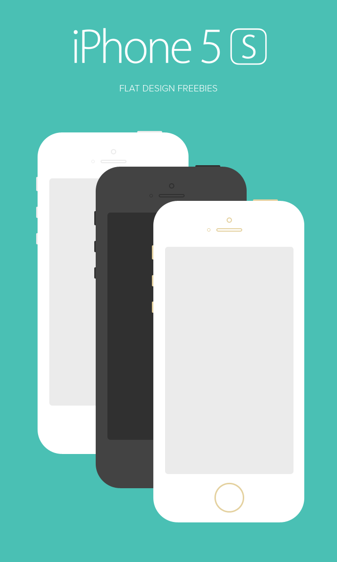iPhone 5S Free Template for Designs