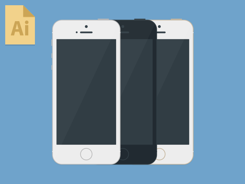 iPhone 5S Mockup Template