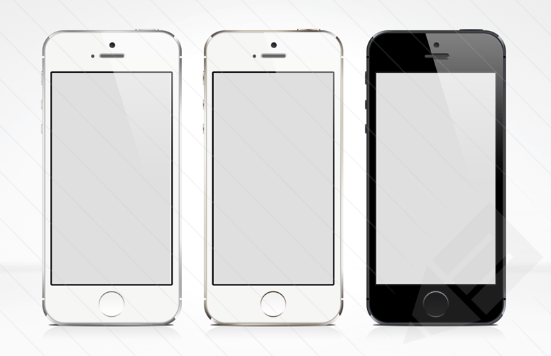11 IPhone 5S Mockup Vector PSD Images
