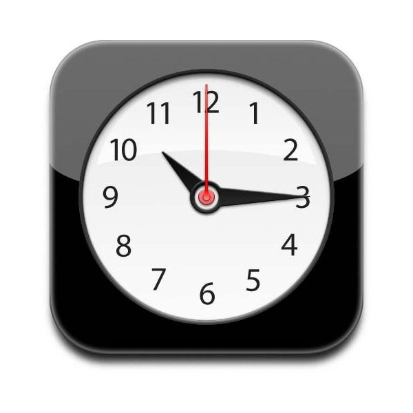 iPhone Clock App Icon