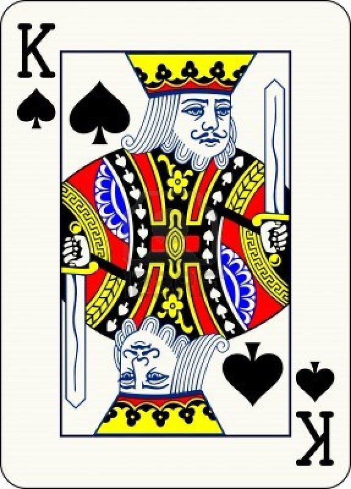 King Playing Card Art