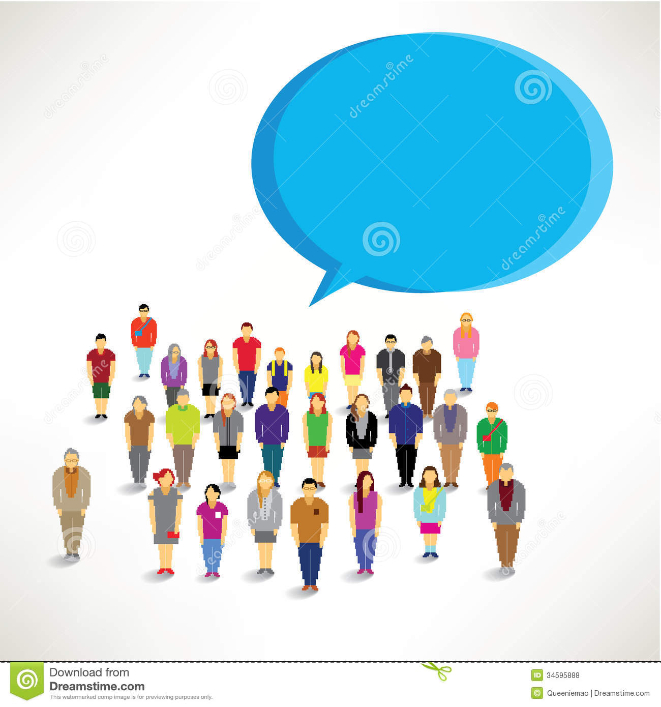 Large Group of People Clip Art
