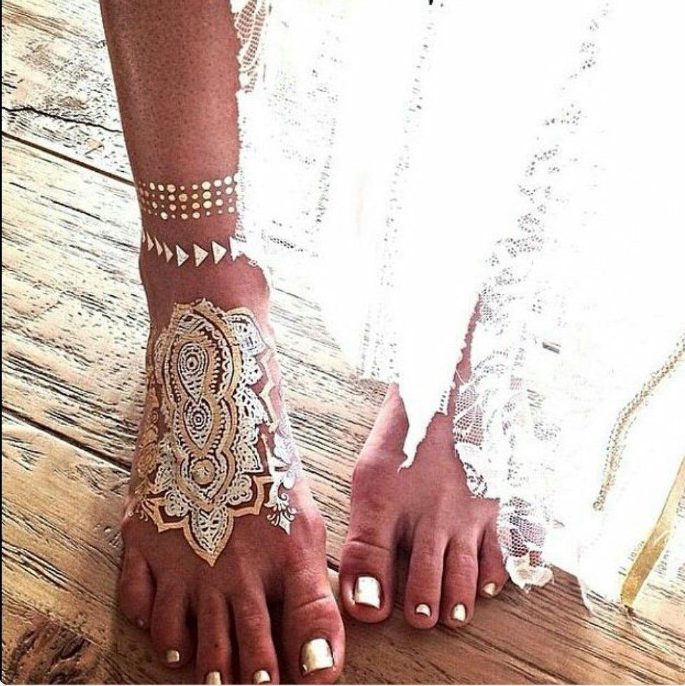 Metallic Jewelry Tattoos