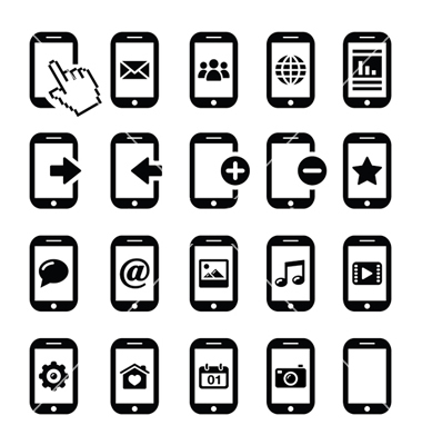11 360 Cell Phone Vector Free Images